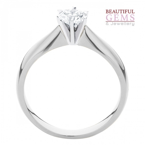 Solitaire Engagement Ring with a 1/4 Carat Diamond in 18ct White Gold - 1833012