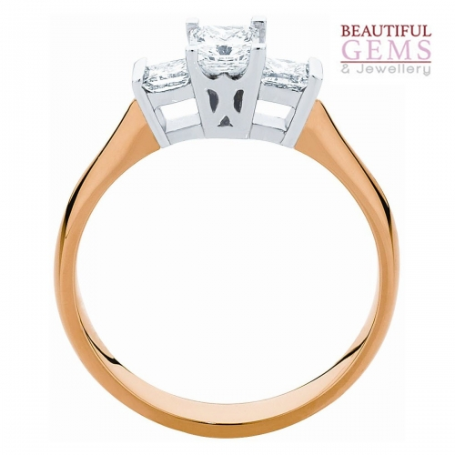Engagement Ring with 1 Carat TDW of Diamonds in 18ct While & Yellow Gold - 184953016