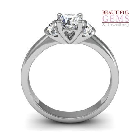 Engagement Ring with 0.57 Carats TDW in 18Ct White Gold - D35978-1 - B