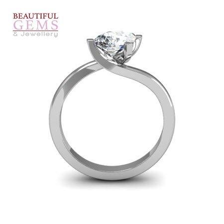 1ct pear diamond engagement ring