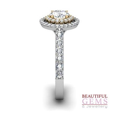 Engagement Ring with 0.91 Carats TDW in 18Ct White Gold - D40731-1 - C