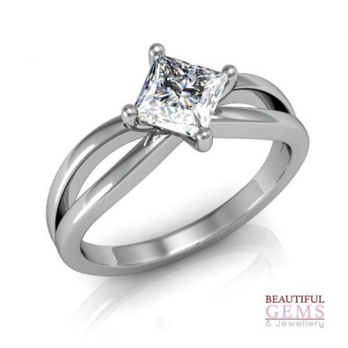 Solitaire Engagement Ring 0.70 Carat Diamond 18ct White Gold 183d41917-2