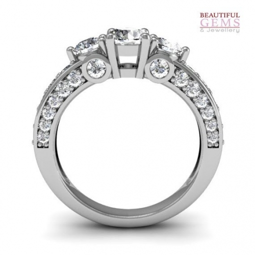 Engagement Ring 1.5cts Diamonds 18ct White Gold-183d42588-b