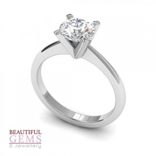 Engagement Ring with 0.75 Carats TDW in 18Ct White Gold - D43356-1