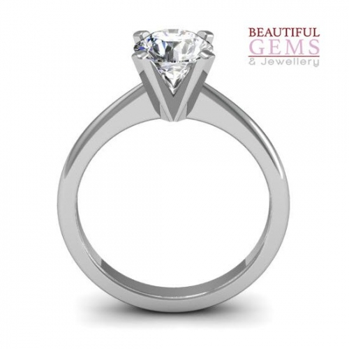 Engagement Ring with 0.75 Carats TDW in 18Ct White Gold - D43356-1 - B