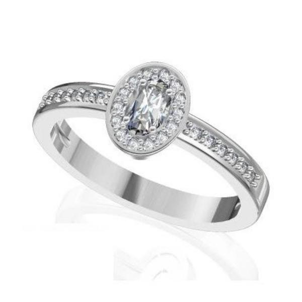Engagement Ring with 0.37 Carats TDW in 18Ct White Gold - R16010-1