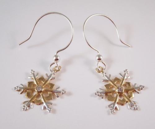 Stirling Silver Snowflake Earrings