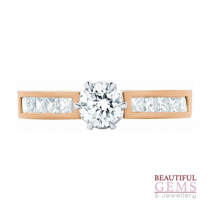 Solitaire Engagement Ring with a 2.00 Carat Centre (TDW TBA) Diamond in 10ct Yellow – 104203003 - B