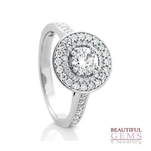 Solitaire Engagement Ring with a 0.50 Carat centre (TW TBA) Diamond in 18ct White - 183493031