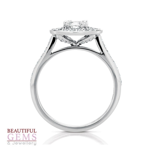 Solitaire Engagement Ring with a 0.50 Carat centre (TW TBA) Diamond in 18ct White - 183493031 - B