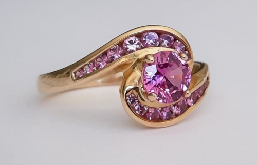 Natural Pink Sapphire Engagement Rings BG&J online jewellery store