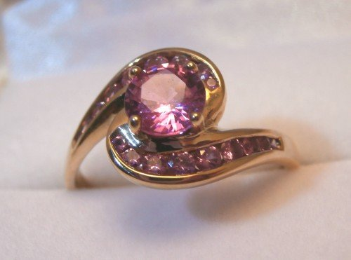 Pink Sapphire Ring In 9ct Yellow Gold -183J3300