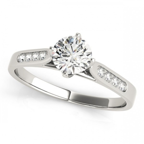 Solitaire Engagement Ring with a 0.70 Carat Diamond in 10ct White Gold-3