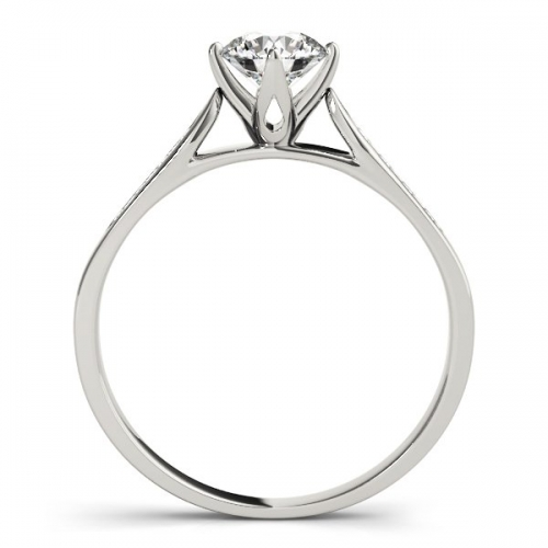 Solitaire Engagement Ring with a 0.70 Carat Diamond in 10ct White Gold-1