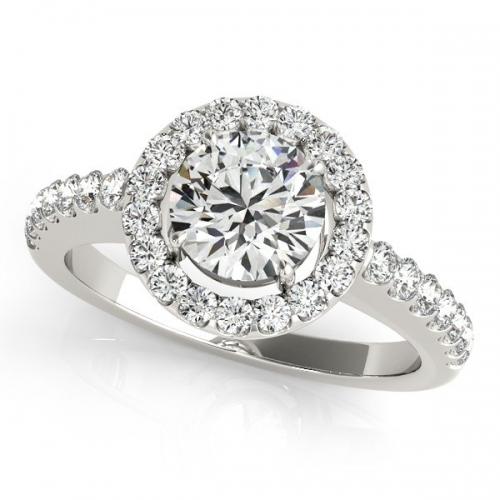 1 carat halo engagement ring