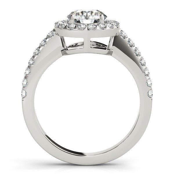 1 carat halo engagement ring-side