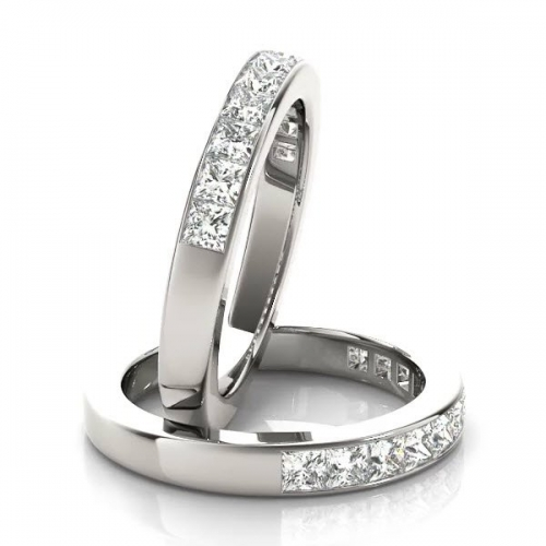 Anniversary Band with 0.33ct of Diamonds in 10ct White Gold-183JPM112