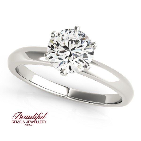 tiffany style 1.3ct diamond ring