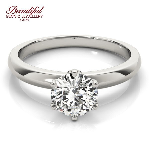 Solitaire Engagement Ring 1/2 Carat Diamond Melbourne