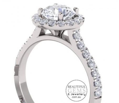 1.34 Carat Round Brilliant Engagement Ring 18ct White Gold-183OJ0415-e