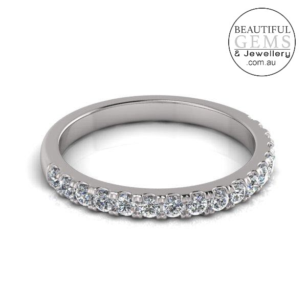 Wedding Band with 0.34 Carat of Diamonds in 18ct White Gold-183OJ0431
