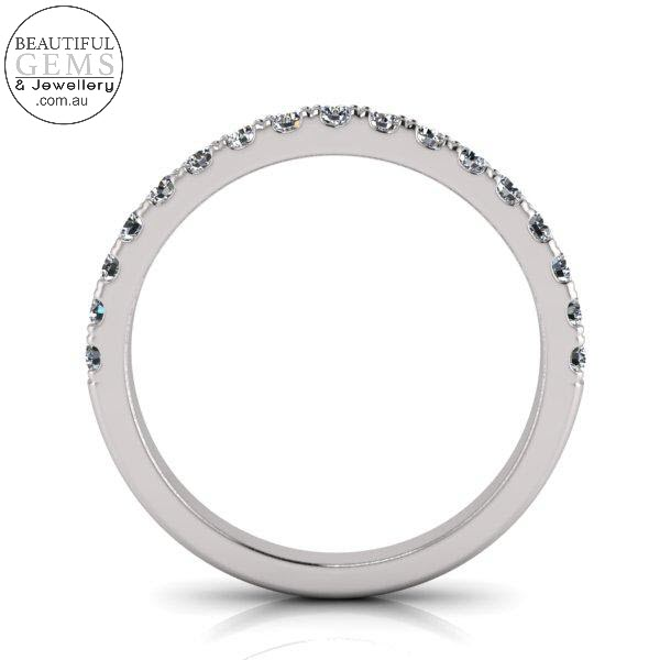 Wedding Band with 0.34 Carat of Diamonds in 18ct White Gold-183OJ0431-b