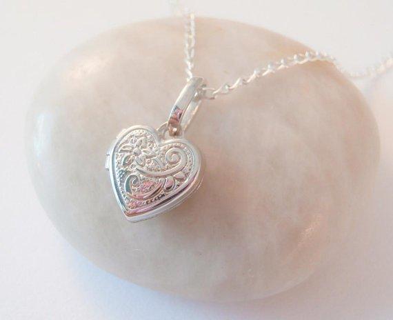 c2b0ac6b3d Sterling Silver Heart-Locket Necklace-alus001 - Beautiful Gems Jewellery