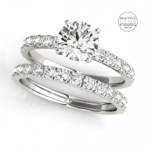 1ct Diamond Engagement Ring in 18ct White Gold-183oj84842