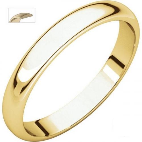 Men's Wedding Band 14ct White & Yellow Gold 4mm