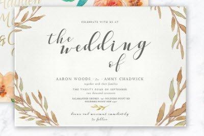 wedding stationary supplier list