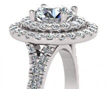Queensland 1ct Diamond Double Halo Engagement Rings for BG&J online jewellery shop