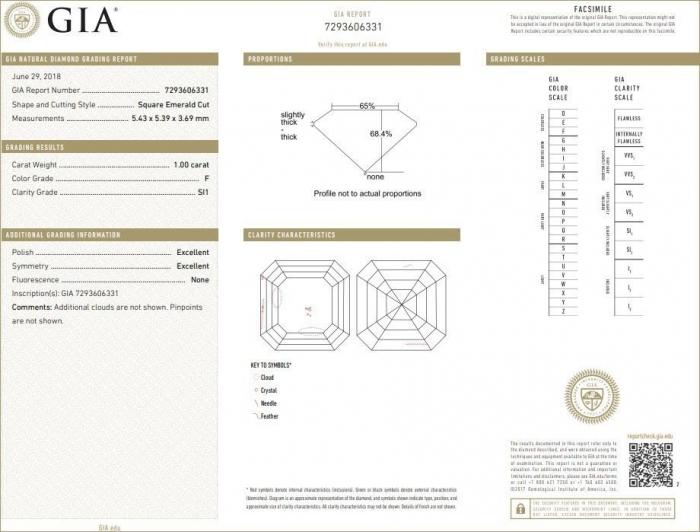 GIA Certified 1 Carat Diamond F-Colour SI1-Clarity-GIA-7293606331 (1.0ct F SI1)