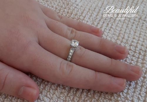 GIA Certified 1 Carat Diamond Engagement Ring -9-800w