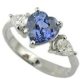 Blue Sapphire GIA Diamond Engagement Ring