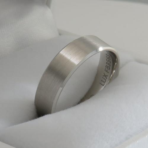 6mm wedding band White Gold
