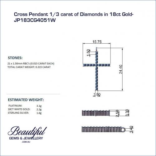 Cross Pendant Diamonds Gold-JP183CG4051W_b