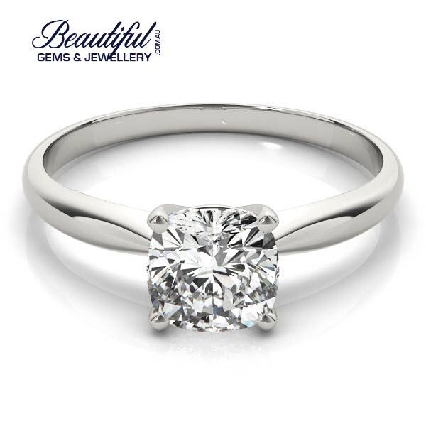 2ct Tiffany Setting Engagement Ring in Planinum-b