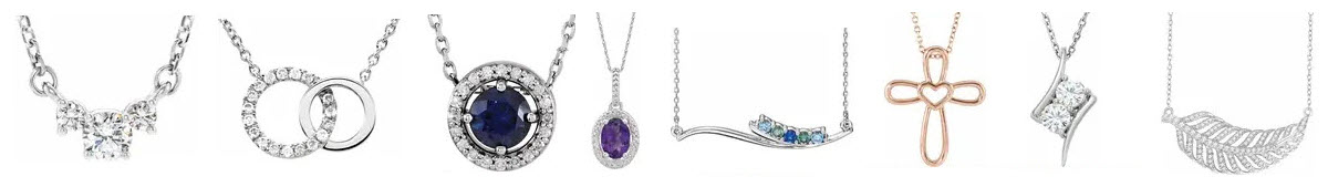 Diamond Necklaces available with sapphire and other gemstones_2