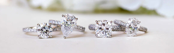Traditional Solitaire Diamond Engagement Rings-3