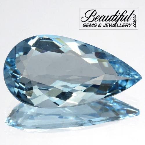 2.6ct-carat-Natural-Beautiful-Blue-Aquamarine-Pear-Cut