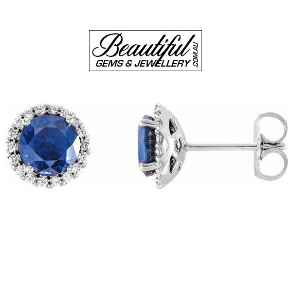 Ceylon-Sapphire-Stud-Earrings-with-Diamonds-in-18ct-White-Gold