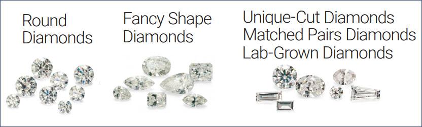 List of wholesale loose diamonds GIA certified