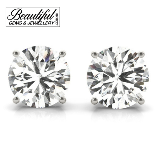 1_Carat_Diamond_Stud_Earrings_White_Gold_Claw_Prong_Basket_Setting_1