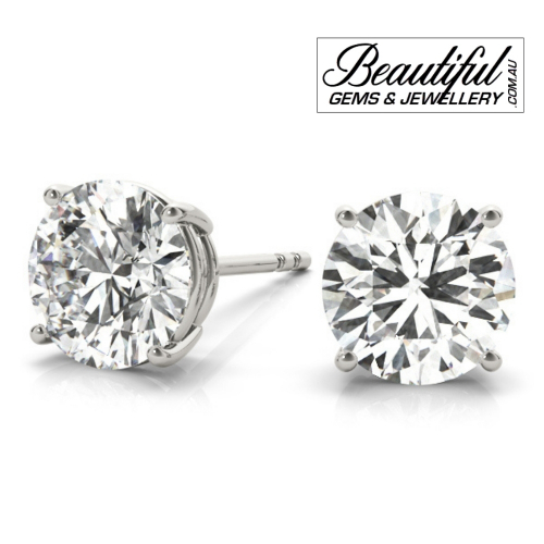 1_Carat_Diamond_Stud_Earrings_White_Gold_Claw_Prong_Basket_Setting_2