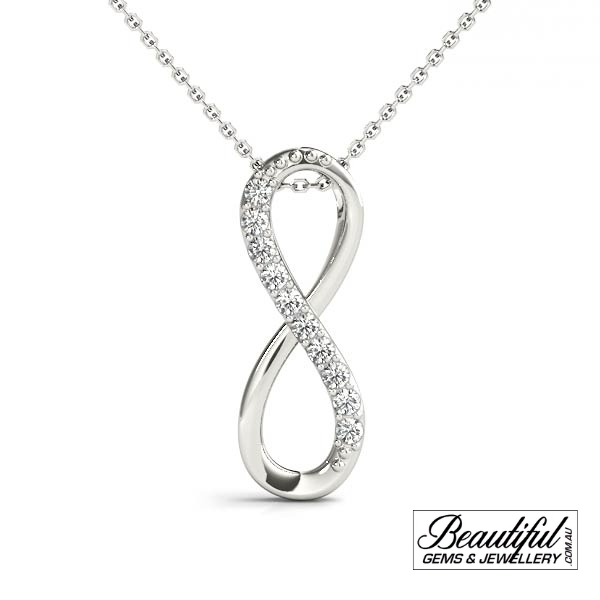0.1-Carat-Diamond-Pendant-Infinity-Necklace-18K-White-Gold-1
