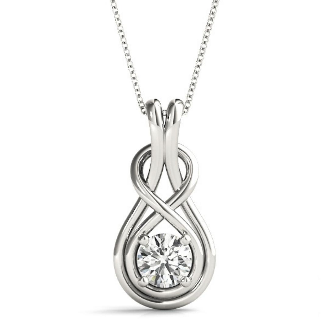0.5-Carat-Diamond-Pendant-Love-Knot-18K-White-Gold-1