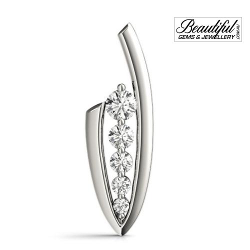 1-Carat-Diamond-Pendant-Graduated-Setting-18K-White-Gold-2