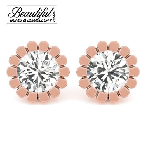 1-Carat-Diamond-Stud-Earrings-Petal-Halo-Setting-in-18ct-Rose-Gold