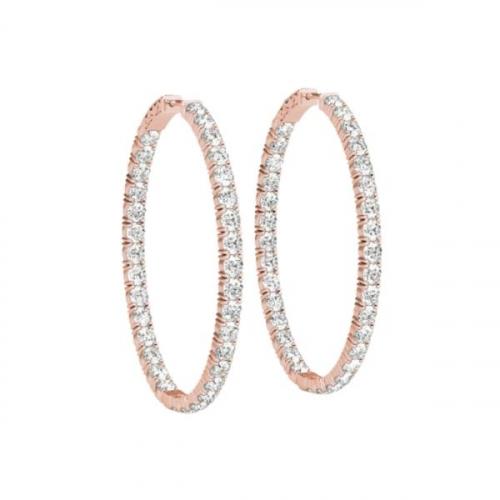 1-Carat-Hoop-Earrings-Pave-Diamonds-Rose-Gold