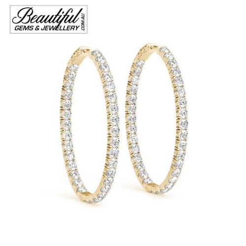 1-Carat-Hoop-Earrings-Pave-Diamonds-Yellow-Gold